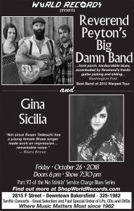 World Records - Peyton's Big Damn Band - Gina Sicilia