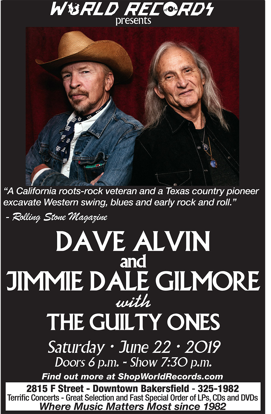 World records - Dave Alvin and Jimmie Dale Gilmore
